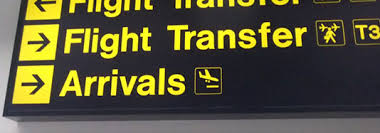 airport transfers information board gatwick